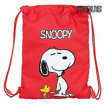 Backpack with Strings Snoopy Red
