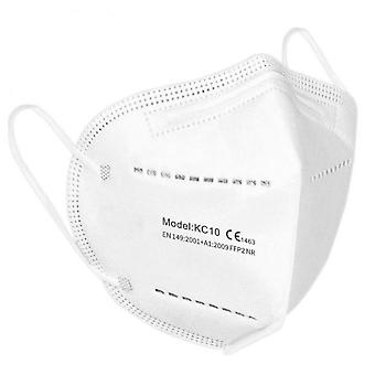 10 Pcs Ffp2 Face Mask Mask-liquid And Dust Proof Face Protection White