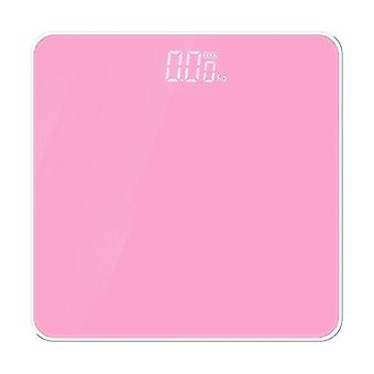 Elektronisk skala LED Display Human Body Vægt Skala (Pink)