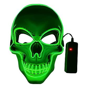 Homemiyn Halloween Led Light Up Mask, Led Scary Skull Mask, Creepy Cosplay Mask For Festival Parties Costume For Kids And Adults