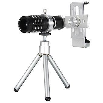 12X-teleskooppilinssi minipöydällä kannettava kolmijalkainen puhelinpidike