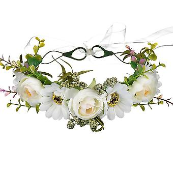 Diadem / hairband with white flowers