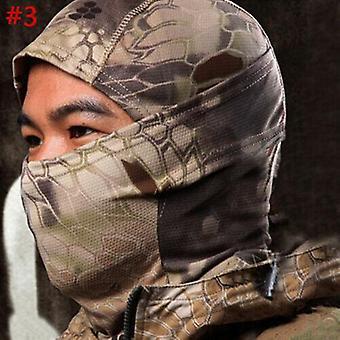 (#3) Taktische Tarnjagd Sturmhaube Maske Armee Militär Vollgesicht Scharfschütze Hut