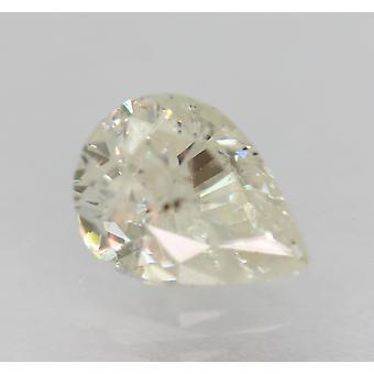 Sertifioitu 0,77 karat I väri päärynän muoto parannettu luonnollinen timantti 6.82x5.04mm
