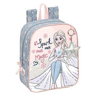 School Bag Frozen Magical Seasons Grey Pink