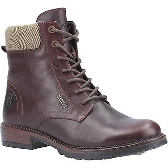Cotswold women's minety high top lace up ankle boot brown 29249