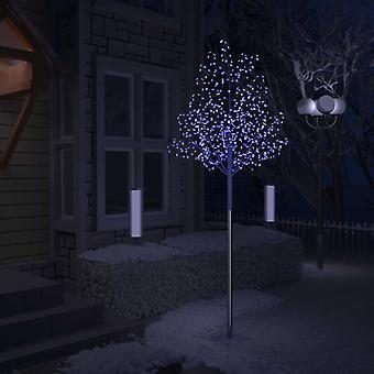 vidaXL شجرة عيد الميلاد 600 المصابيح الزرقاء ضوء الكرز أزهار 300 سم
