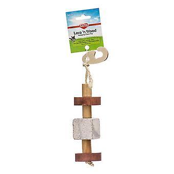"Kaytee Lava 'N Wood Hanging Chew Toy - Hanging Chew Toy - (2"" Diameter x 9.5"" High)"
