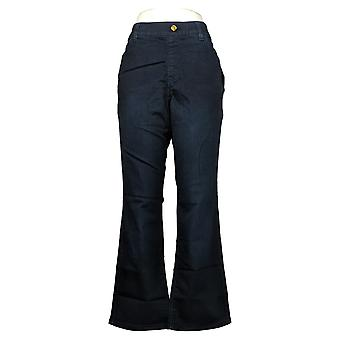 IMAN Global Chic Women's Pants Illusion Pull-On Bootcut Blue 760592406