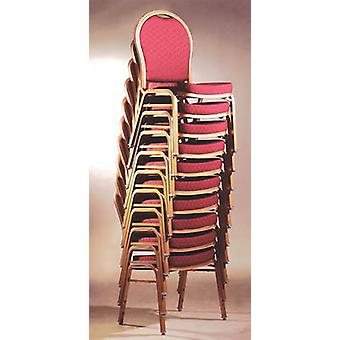 4 Cresdi Aluminium Red Arched Back Banquet Chair