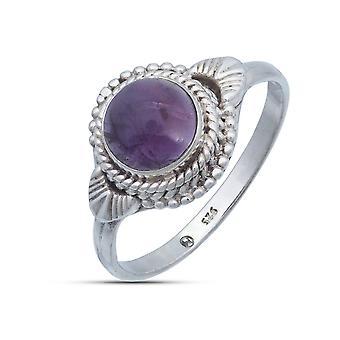 Ring Zilver 925 Sterling Zilver Amethist Purple Stone (Nr: MRI 153)