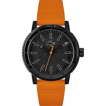 Lacoste 2011095 Men's Challenger Orange Silicone Strap Wristwatch