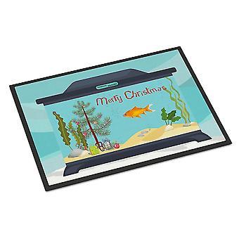 Door mats goldfish common merry christmas indoor or outdoor mat 24x36