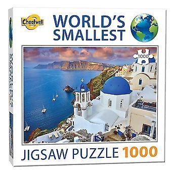 Jigsaw puzzles worlds smallest jigsaw santorini