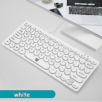 Schlanke kabelgebundene Tastatur protable mini ergonomische Tastatur mit Multimedia-Tasten für Notebook Laptop Mac