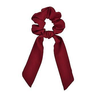 2pcs Hestehale Scrunchie Hair Ties Tørklæde Elastisk hår reb for kvinder Hair Bow Ties Scrunchies Hair Bands Flower Print Ribbon Hairbands