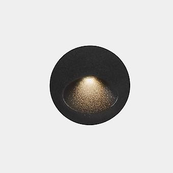 LEDS C4 Bat Round Ovale Outdoor LED Lampada da incasso da parete rotonda Urban Grey IP65 2.2W 2700K