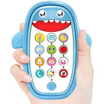 Jouets musicaux pour bébé, jouets pour téléphone bébé Requin avec lumière et son