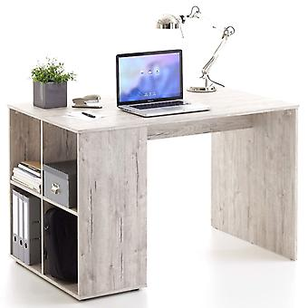 Bureau Chunhelife avec étagères latérales 117x73x75 Cm Chêne de sable