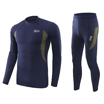 Men's Thermal Underwear Set, Microfiber Soft Fleece Lined Long Johns