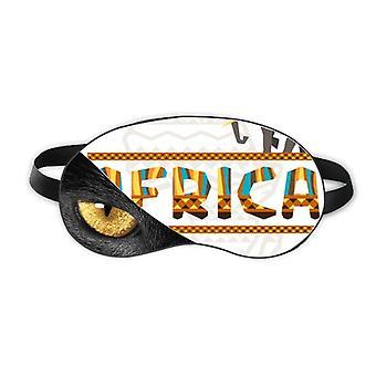 أفريقيا خريطة الفيل الأفريقية سافانا العين رئيس بقية الظلام التجميل الظل الغطاء