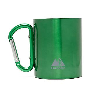 New Eurohike Carabiner Travel Camping Mug Green