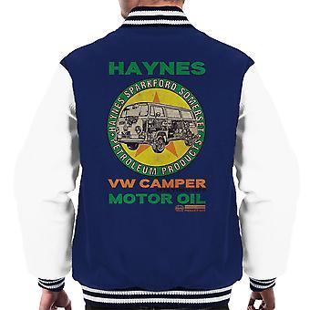 Haynes merk VW Camper motorolie mannen Varsity Jacket