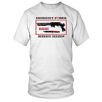Emergency Zombie Defense Station Mens T Shirt