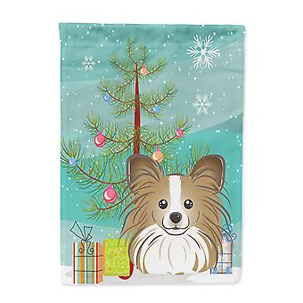 Christmas Tree and Papillon Flag Canvas House Size