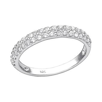Eternity - 925 Sterling Silver Jewelled Rings - W35379X