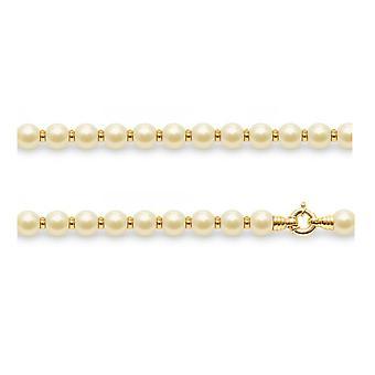 Kvinnors choker halsband i gyllene odlade pärlor och gult guld pärlor 750/1000