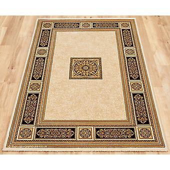 Piero ivoor zwart tapijt