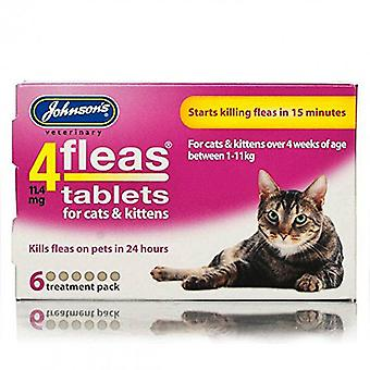 Johnsons 4 Tablets for Cats & Kittens, 6 tablets