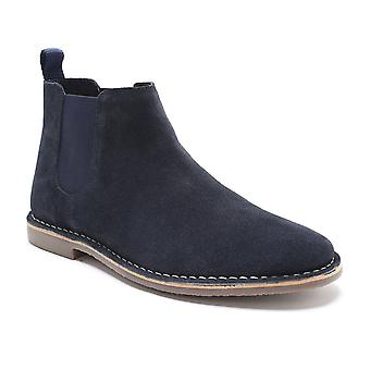 Red Tape Arizona Navy Suede Classic Chelsea Boots