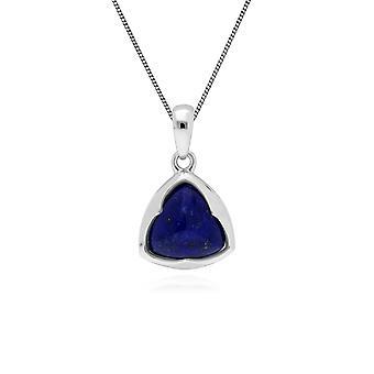 Gemondo Sterling Silver Prisma Sockertoppen Lapis Lazuli pendel på 45cm kedja