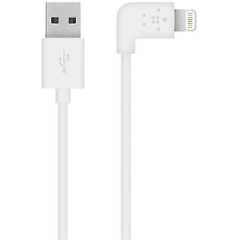 Belkin iPad / iPhone / iPod Datakabel / lader bly [1x USB 2.0 kontakt A - 1x Apple Dock lynplugg] 1,20 m hvit