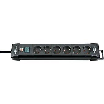 Brennenstuhl 1951160100 Socket strip (+ switch) 6x Black PG connector 1 pc(s)