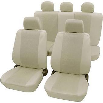 Petex 26174809 Sydney capas 11 peças poliéster bege Drivers assento, assento de passageiro, banco traseiro
