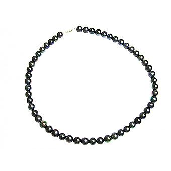Gemshine Women's Necklace Beads Tahiti 925 Silver 45 cm