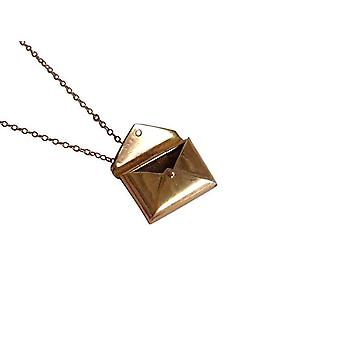 Letter Envelope necklace bronze plated pendant letter
