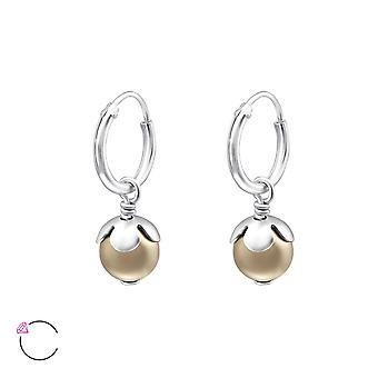 Round Crystal From Swarovski® - 925 Sterling Silver Earrings - W24232x