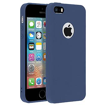 Forcell case for iPhone 5, 5S, SE, soft touch cover, silicone case – Navy Blue