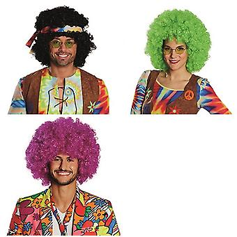 Afro wig clown accessory Carnival Halloween curly hippie