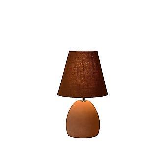 Lucide Solo braun Keramik Nachttisch-Lampe mit Schalter