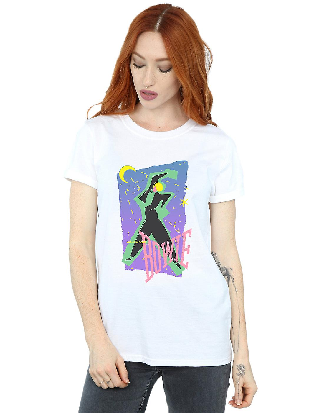 David Bowie Women's Moonlight Dance Boyfriend Fit T-Shirt