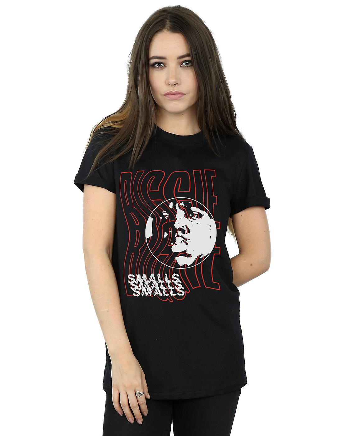 Notorious BIG Women's Biggie Glitch Boyfriend Fit T-Shirt