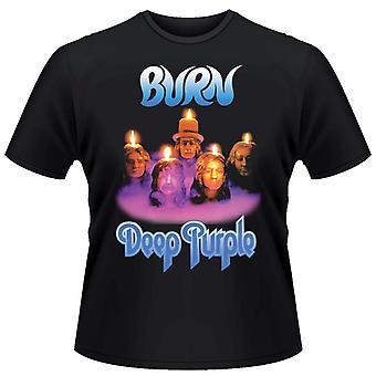 T-Shirt violet foncé Burn