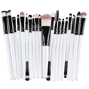 Multi Package With makeup brushes-black with white shaft