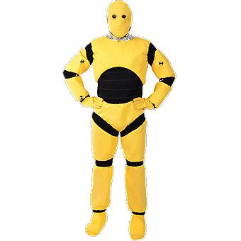 Orion Costumes Mens Yellow Crash Test Dummy Novelty Funny Stag Do Fancy Dress