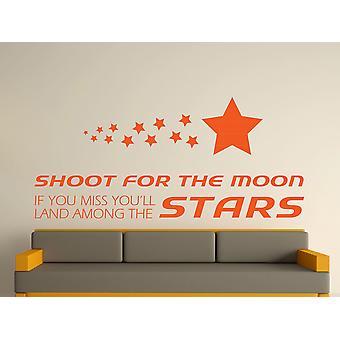 Viser la lune Wall Art Sticker - orange